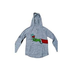 Wine glass grinch hoodie size medium